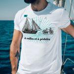 T-shirt Hé! à voiles et à pédales